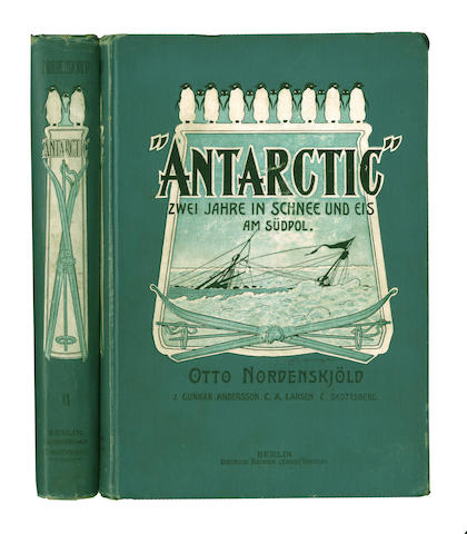 "SWEDISH ANTARCTIC EXPEDITION, 1901-1904. NORDENSKJÖLD (NILS OTTO GUSTAV) and J.G. ANDERSSON, and others. ""Antarctic,"" Zwei Jahre in Schnee und Eis am Südpol, 2 vol., Berlin, Dietrich Reimer, 1904"