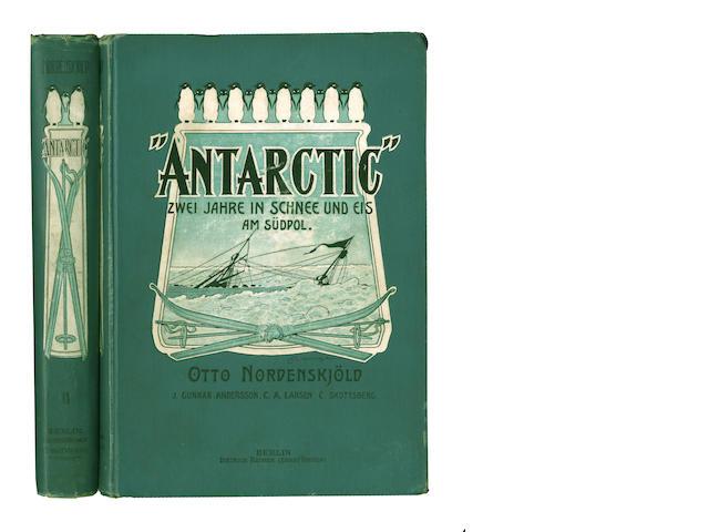 """NORDENSKJÖLD (NILS OTTO GUSTAV) and J.G. ANDERSSON """"Antarctic,"""" Zwei Jahre in Schnee und Eis am Südpol, 2 vol., Berlin, Dietrich Reimer, 1904"""