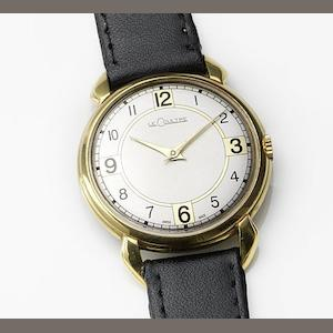 LeCoultre. A gold plated manual wind wristwatch Movement No.583744, Circa 1949