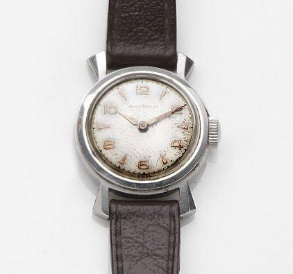 Jaeger-LeCoultre. A lady's stainless steel manual wind wristwatchCase No.475810, Movement No.625419, Circa 1949