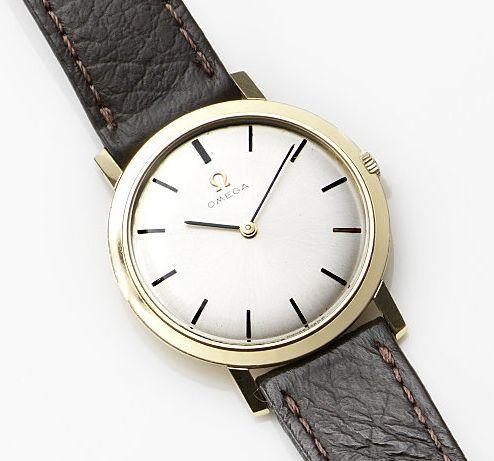 Omega. An 18ct gold manual wind wristwatch Case No.1113022, Movement No.21737323, Circa 1964