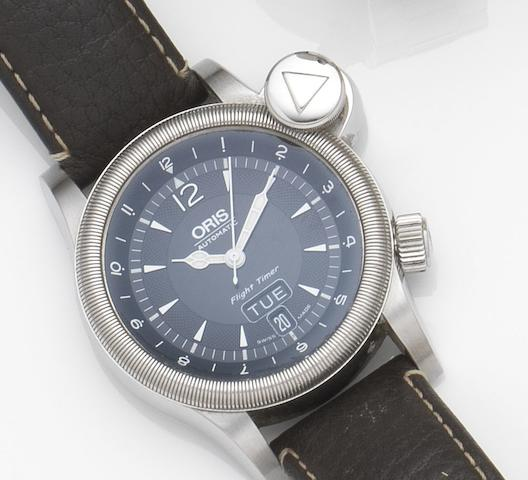 Oris. A stainless steel automatic calendar wristwatchFlight Timer, Ref:7568, Case No.24-55949, Circa 2009