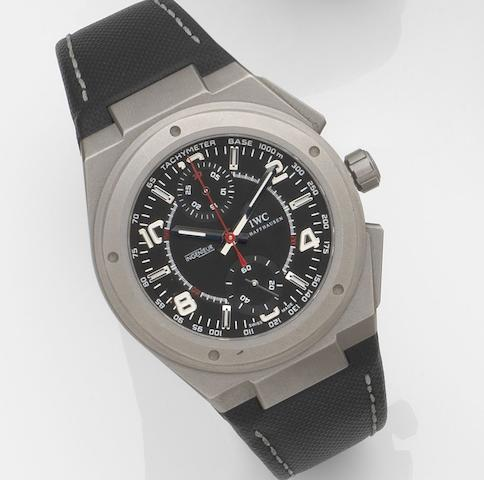 IWC. A titanium automatic chronograph wristwatch with box and papers Ingenieur Chronograph AMG, Ref:IW372504, Case No.313****, Sold 6th December 2008