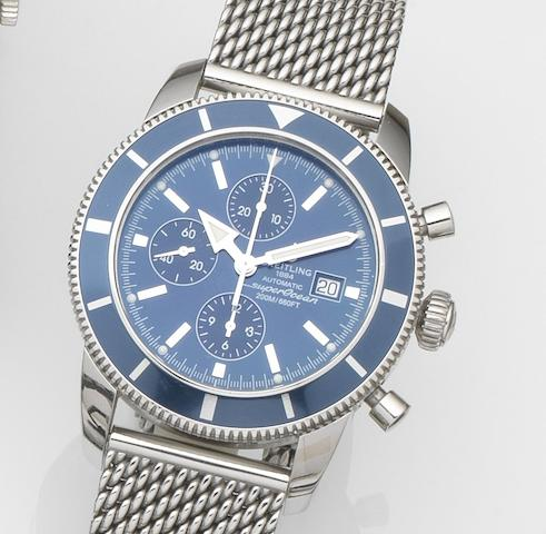 Breitling. A stainless steel automatic calendar chronograph bracelet watch with box and papersSuperocean Héritage Chronographe, Ref:A13320161, Case No.246****, Sold 12th February 2009