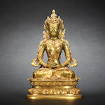 A gilt-bronze figure of Amitayus Early Qing dynasty