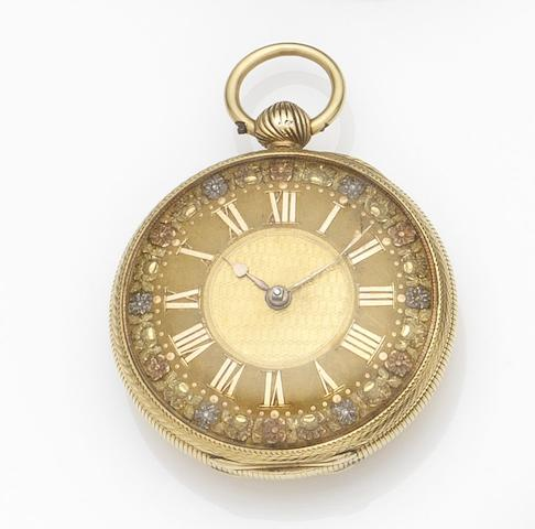 Thomas Allen, Wolverhampton. An 18ct gold key wind open face pocket watch Movement No.3276, London Hallmark for 1822