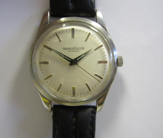 Jaeger-Lecoultre. A stainless steel automatic centre seconds wristwatch Case No.808516, Circa 1990