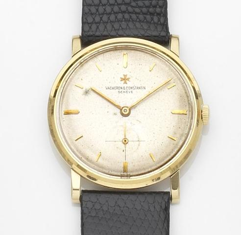 Vacheron & Constantin. An 18ct gold manual wind wristwatchRef:6414, Case No.375375, Movement No.549633, Circa 1962