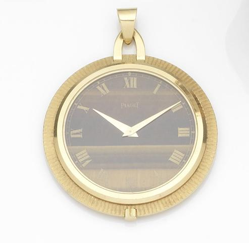 Piaget. An 18ct gold manual wind pendant watch Movement No.687876, Circa 1960