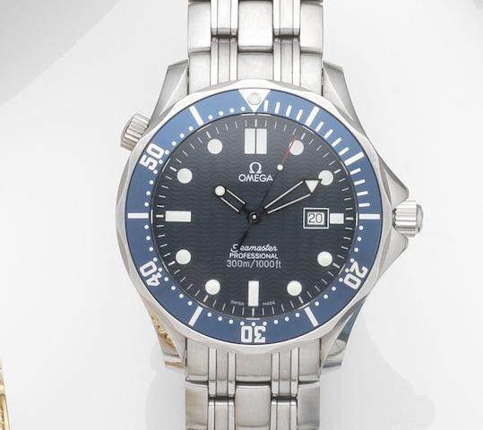 Omega. A stainless steel quartz calendar bracelet watch Seamaster Professional, Ref:196.1523, Case No.59421227, Circa 2005