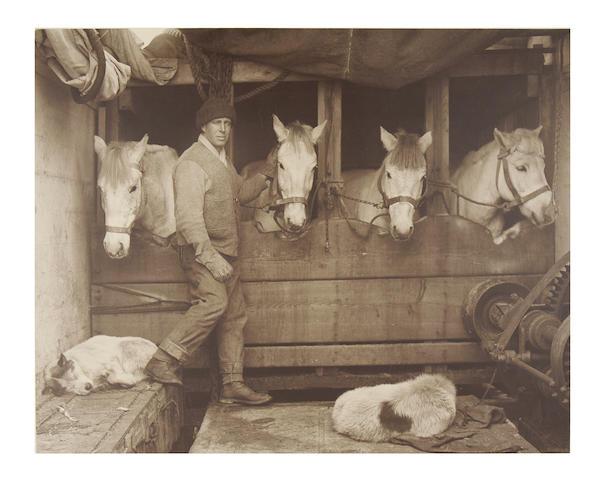 """PONTING (HERBERT GEORGE) """"Captain Oates & Ponies"""", [1910]"""
