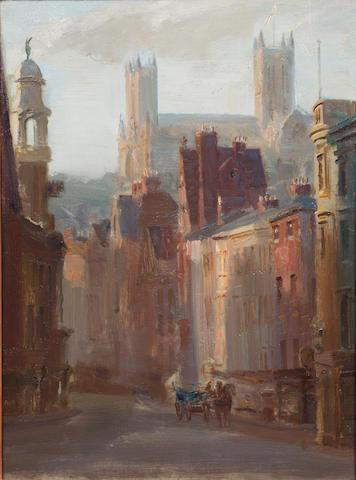 Douglas Stannus Gray (British, 1890-1959) Lincoln Cathedral