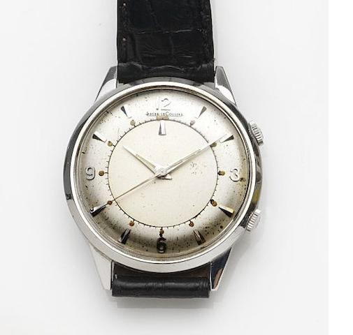 Jaeger-LeCoultre. A stainless steel manual wind alarm wristwatch Memovox, Case No.743257, Movement No.1292563, Circa 1960