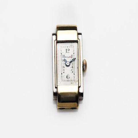 Rolex. A lady's steel and gold manual wind watch head Princess, Ref:2299, Case No.22970, Circa 1930