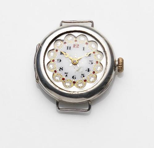 Rolex. A lady's silver case manual wind watch head London Hallmark for 1916