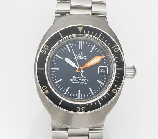 Omega. A stainless steel automatic calendar bracelet watch Seamaster Professional, Ref:166.091, Movement No.33136281, Circa 1971