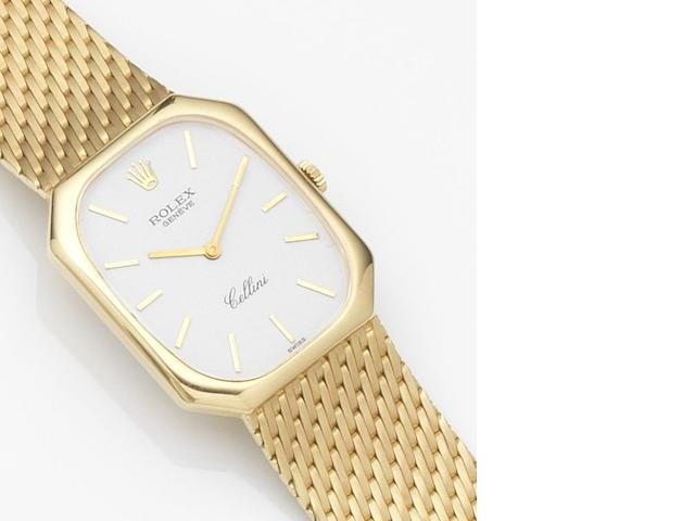 Rolex. An 18ct gold manual wind bracelet watch Cellini, Ref:4336, Case No.6914904, Circa 1980
