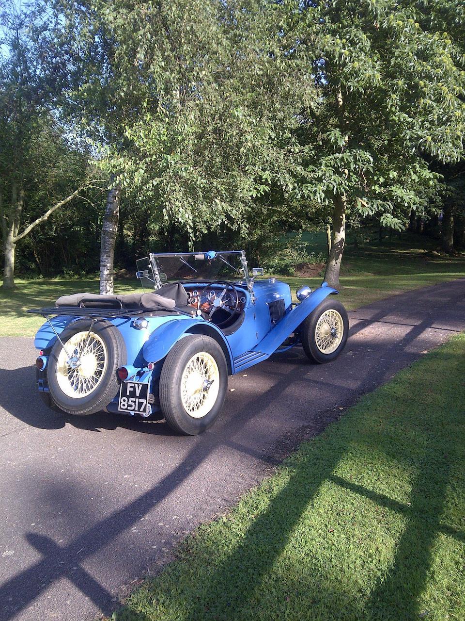 1937 Riley 1½-Litre 12/4 Kestrel/Sprite Special Sports  Chassis no. S527K5855 Engine no. SSK5855
