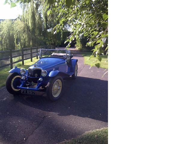 1937 Riley 1½-Litre 12/4 Kestrel/Sprite Special Sports   Chassis no. S527K5855 Engine no. SSK5855