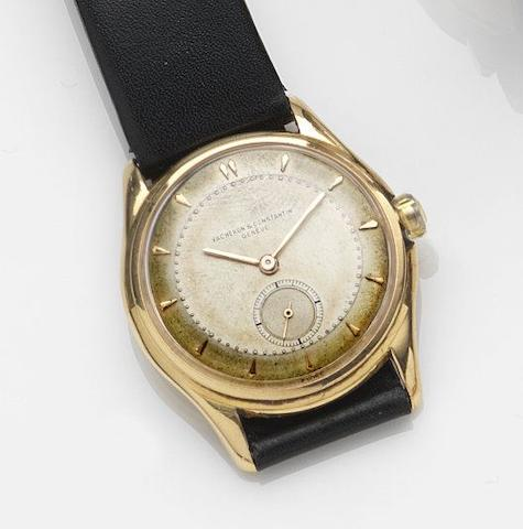 Vacheron & Constantin. An 18ct gold manual wind wristwatch together with box and papers Case No.320842, Movement No.488147, Circa 1950