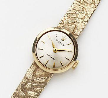 Rolex. A lady's 9ct gold manual wind bracelet watch Precision, Case No.30499, London Hallmark for 1966
