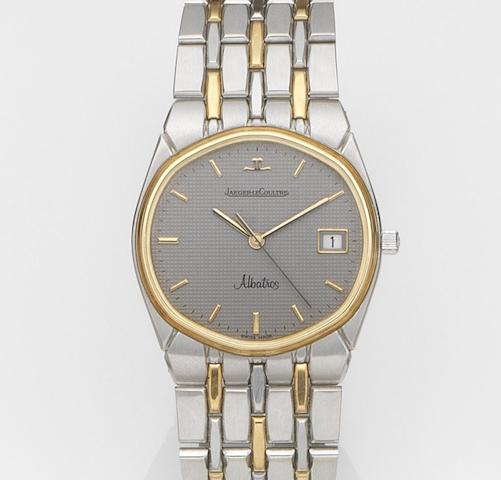 Jaeger-LeCoultre. A stainless steel and gold quartz calendar bracelet watchAlbatross, Ref:146 201 5, Case No.1621142, Movement No.2392566, Circa 1990