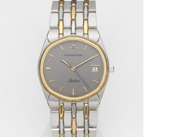Jaeger-LeCoultre. A stainless steel and gold quartz calendar bracelet watch Albatross, Ref:146 201 5, Case No.1621142, Movement No.2392566, Circa 1990