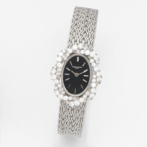 Vacheron Constantin. A lady's 18ct white gold manual wind bracelet watch Case No.467384 P, Movement No.626552, Circa 1965