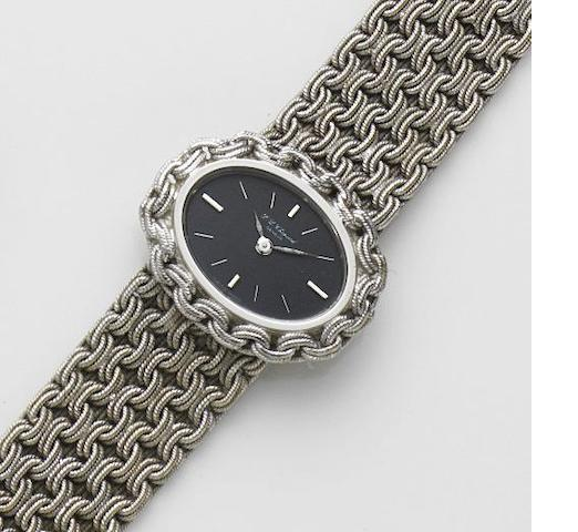 Chopard. A lady's 18ct white gold manual wind bracelet watch Ref:5031, Case No.30679, Circa 1980