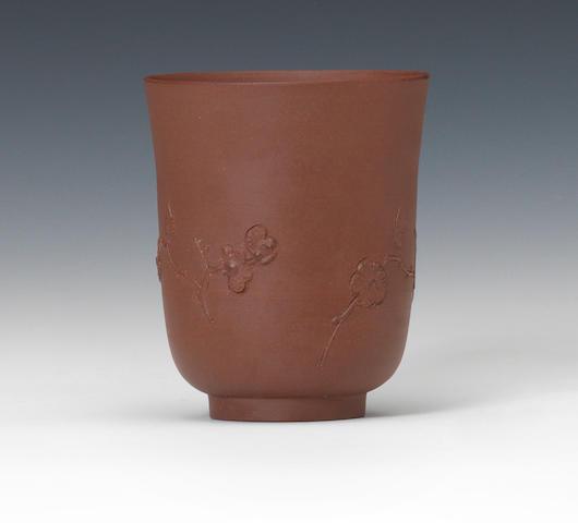 An Elers redware beaker, circa 1690-98