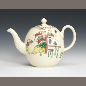 A globular teapot and cover