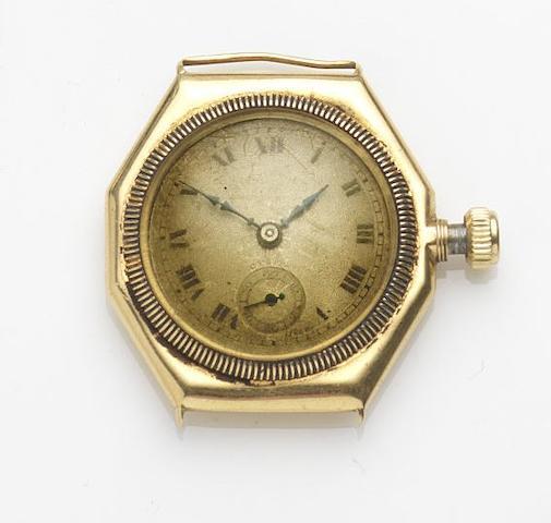 Rolex. An 18ct gold manual wind watch headCase No.34306, Glasgow Hallmark for 1926