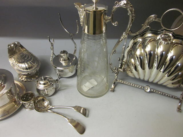 A Victorian electroplated biscuiteer,  (Qty)