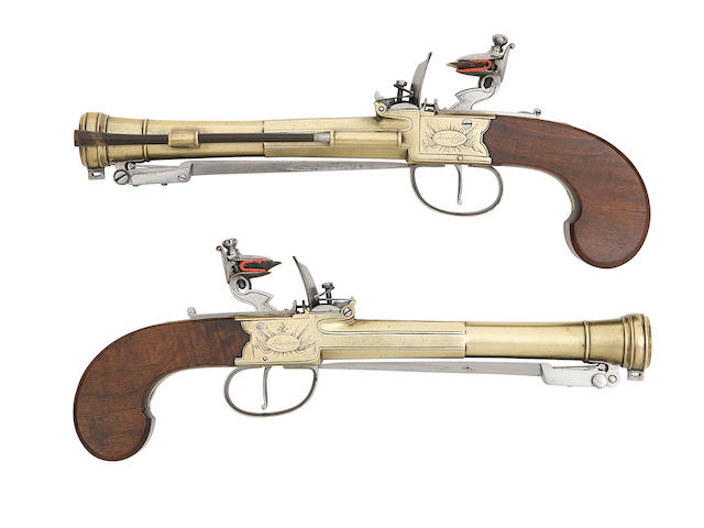 A Fine Pair Of Flintlock Box-Lock Blunderbuss-Pistols
