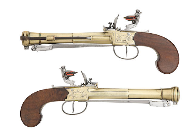 A Fine Pair Of Flintlock Box-Lock Blunderbuss-Pistols