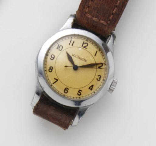 LeCoultre. A chrome plated manual wind military issue wristwatch Case No.159251, Movement No.252406, Circa 1942