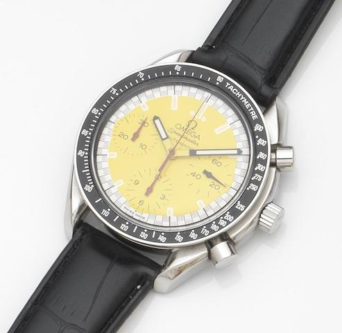 Omega. A stainless steel automatic chronograph wristwatchSpeedmaster Schumacher, Ref:175.0032.1, Case No.5529257, Circa 2005