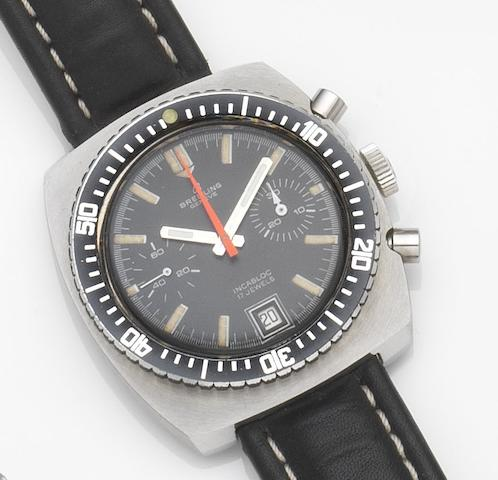 Breitling. A stainless steel manual wind chronograph wristwatch Incabloc, Ref:2002-9, Circa 1970