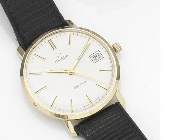 Omega. A 14ct gold manual wind calendar wristwatch Case No.1329051, Movement No.41 204660, Circa 1978
