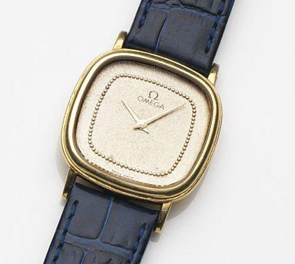 Omega. A lady's 18ct gold quartz wristwatchRef:391.9284, Movement No.45737536, Circa 1982