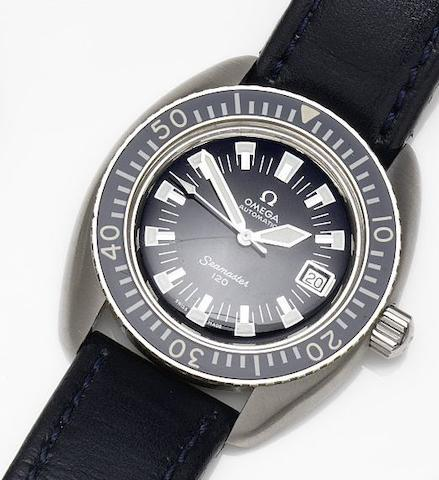 Omega. A stainless steel automatic calendar wristwatch Seamaster 120, Ref:166.073, Movement No.26006914, Circa 1968
