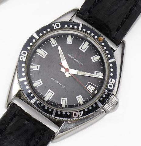 Universal. A stainless steel automatic calendar wristwatch Polerouter Sub, Circa 1970