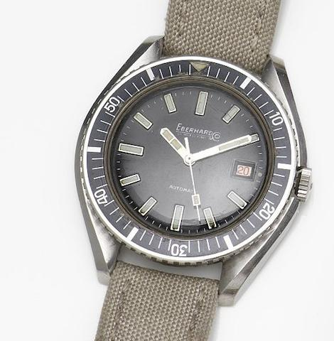 Eberhard & Co. A stainless steel automatic calendar wristwatchRef:126013, Case No.6553530, Circa 1970