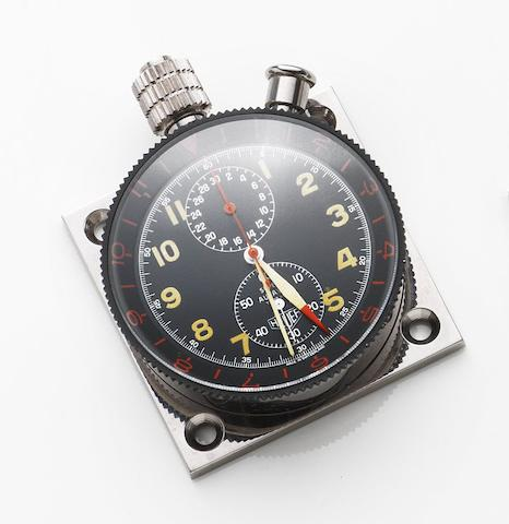 Heuer. A stainless steel manual wind chronograph dashboard timepiece Super Autavia, Case No.73827, Circa 1969