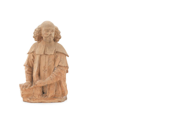 A 17th century Dutch small terracotta bust
