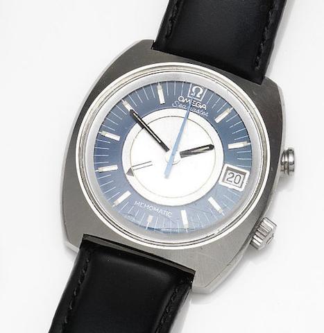Omega. A stainless steel automatic alarm calendar wristwatch Seamaster Memomatic, Ref:166.072, Movement No.33325126, Circa 1971