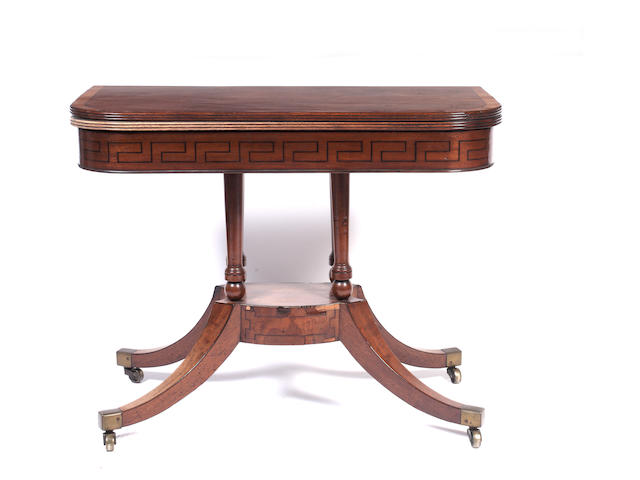 A George IV mahogany tea table