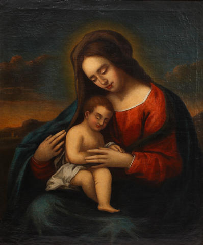 Bolognese School, 17th Century The Virgin and Child