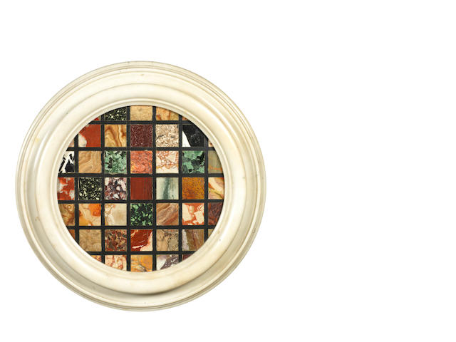 A pietre dure framed medallion