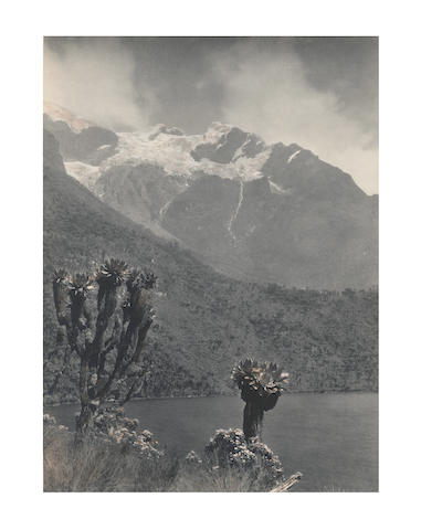 AFRICA - RUWENZORI MOUNTAINS SELLA (VITTORIO) Two mountain views, one of Mount Stanley with Bujuku Lake in the foreground, the other showing the head of the Mobuku Valley and a glacier, [c.1905] (2)
